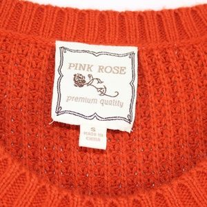 Pink Rose Dresses - Pink Rose Sweater Dress Chunky Knit Rust Small S